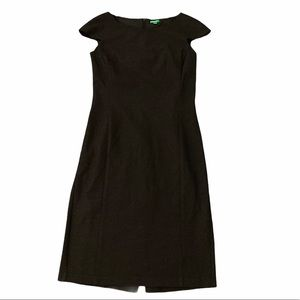 Benetton fitted Stretch twill Dress cap sleeves